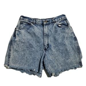 Vintage Acid Washed High Waist Cutoff Jean Shorts